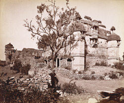 Ruins of the palace of Padmani, Chitor.